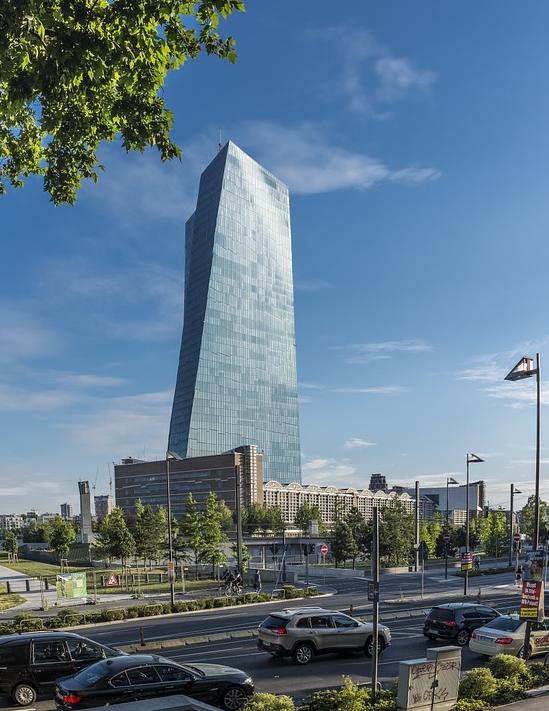 프랑크프루트의 유럽중앙은행 전경